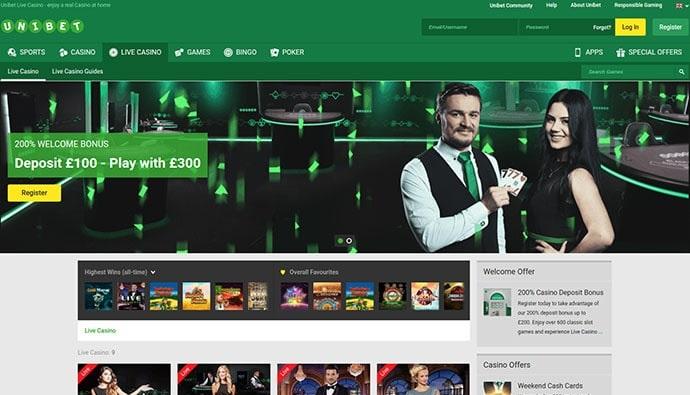 Unibet Casino Bonuses and Promotions